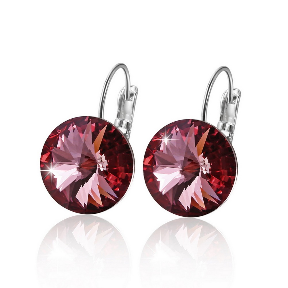 Warme Farben Earring for Women Made with Swarovski Crystal Round Stone Drop Earring Silver 925 Jewelry Warme Farben Earring for Women Made with Swarovski Crystal Round Stone Drop Earring Silver 925 Jewelry Earring Gift for lady