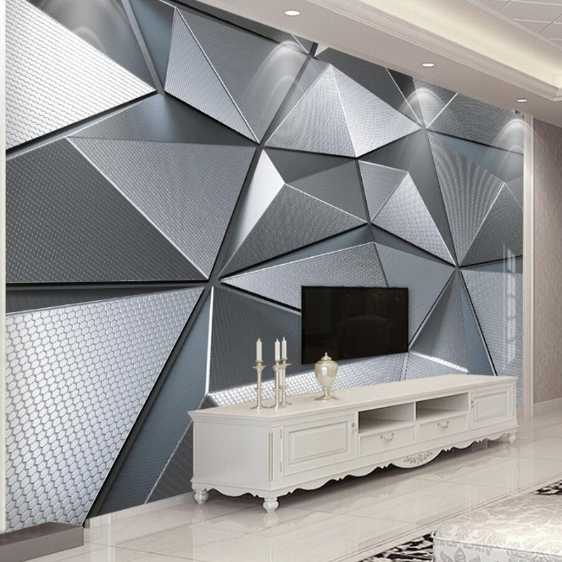 Custom Wallpaper Wall Murals 3D Abstract Geometric Pattern Modern Living Room Bedroom TV Background Decor Papier Peint Mural 3D