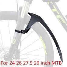 Guardabarros delantero y trasero para bicicleta de montaña, 24, 26, 27,5 y 29 pulgadas, TPE de goma suave, accesorios para guardabarros
