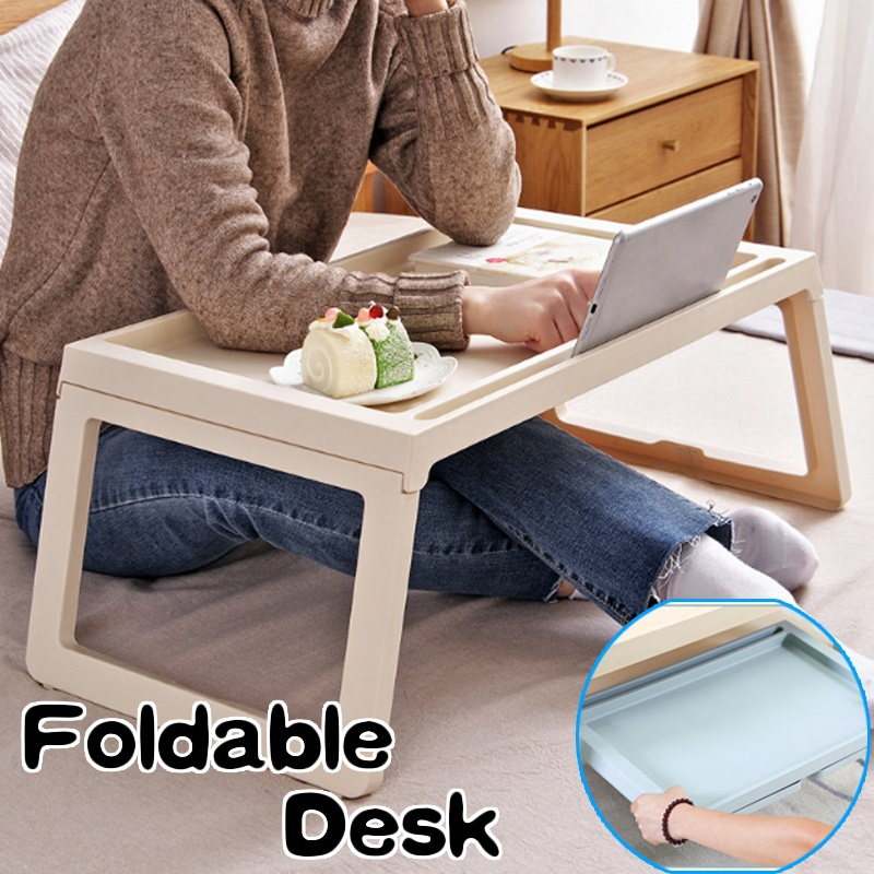 Adjustable Folding Aluminum Lazy Bed Sofa Laptop Notebook Stand Tray Desk Table(China)