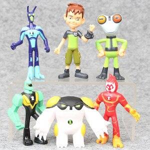 Image 2 - Figura de acción de Ben Tennyson, cuatro brazos, materia gris, Kineceleran, Diamondhead, Heatblast, juguetes para niños, regalos, 9 unidades