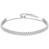 Kaliyah 2019 New Sutil Duplo Bracelet Swa Women Shine Two Exquisite Best Present Choice From Transparent Crystal Jewel For Girlfriends