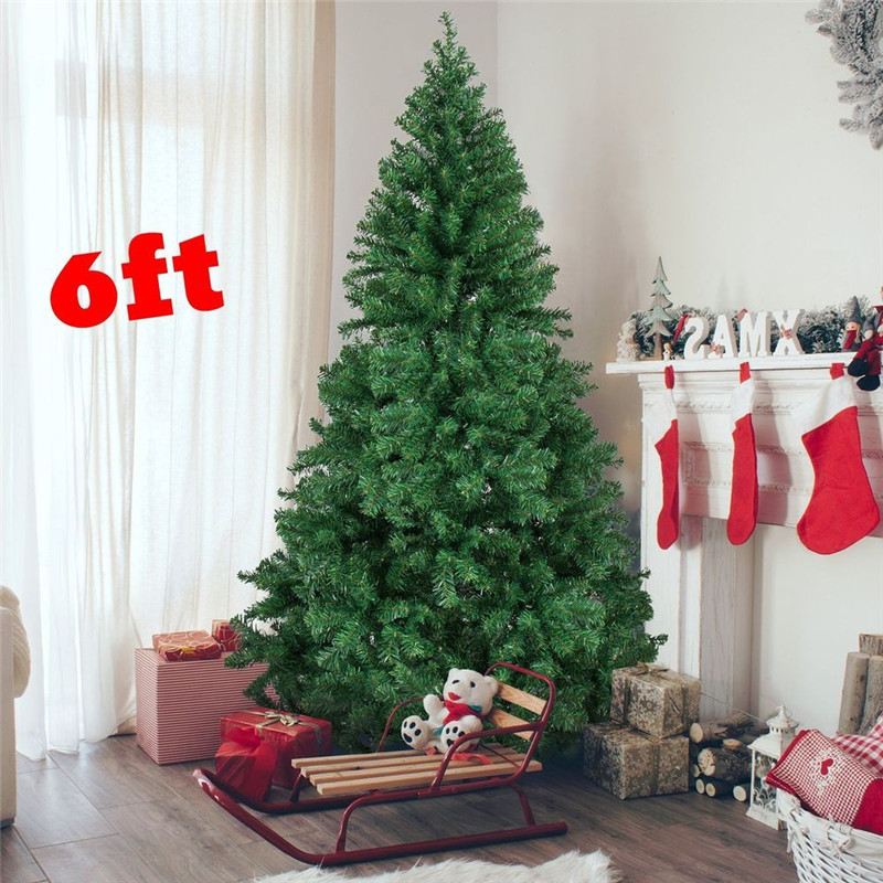 aliexpresscom buy 18m height 6 ft christmas tree eco friendly artificial pine tree 800 tips with metal stand xmas trees christmas decor for home from