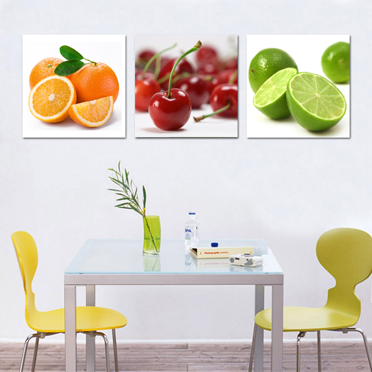 Canvas art fruits kitchen canvas painting large wall for Cuadros para cocina originales