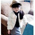 2016 Marca Meninas Inverno Quente de Manga Longa Casaco de Lã Meninas Da Escola Linda Princesa Inverno Branco Morno do Inverno Outwear Venda Quente