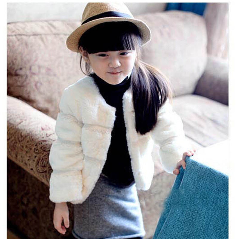 2019 Marca Girls Winter Warm Abrigo de lana de manga larga Girls - Ropa de ninos