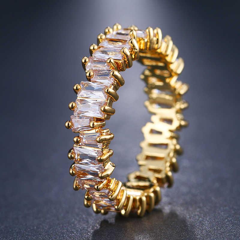 Emmaya nova moda luxo charme aaa cz anel de casamento feminino festa jóias frete grátis