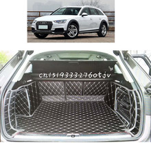 lsrtw2017 fiber leather car trunk mat for audi a4 Allroad 2018 2019 Avant b9