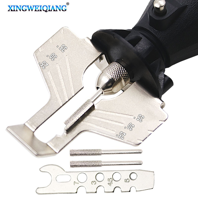 1 Set Saw Sharpening Attachment Sharpener Guide Drill Adapter For Dreme Drill Rotary Accessories