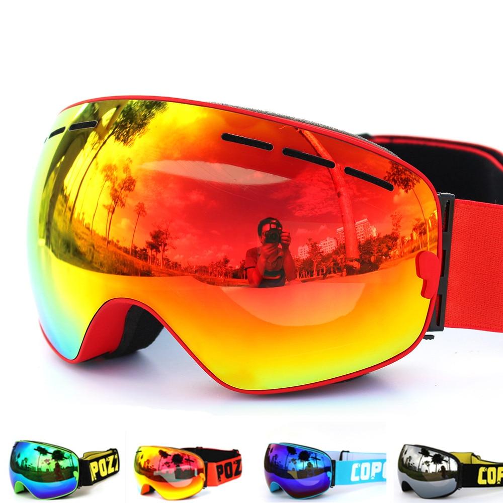 купить New brand ski goggles double layers UV400 anti-fog big ski mask glasses skiing men women snow snowboard goggles дешево