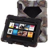 Custodia Per Kindle Fire HDX 7 Camouflage Armatura Antiurto Caso Della Protezione Heavy Duty Copertura Della Cassa Goccia di Silicone Resistenza