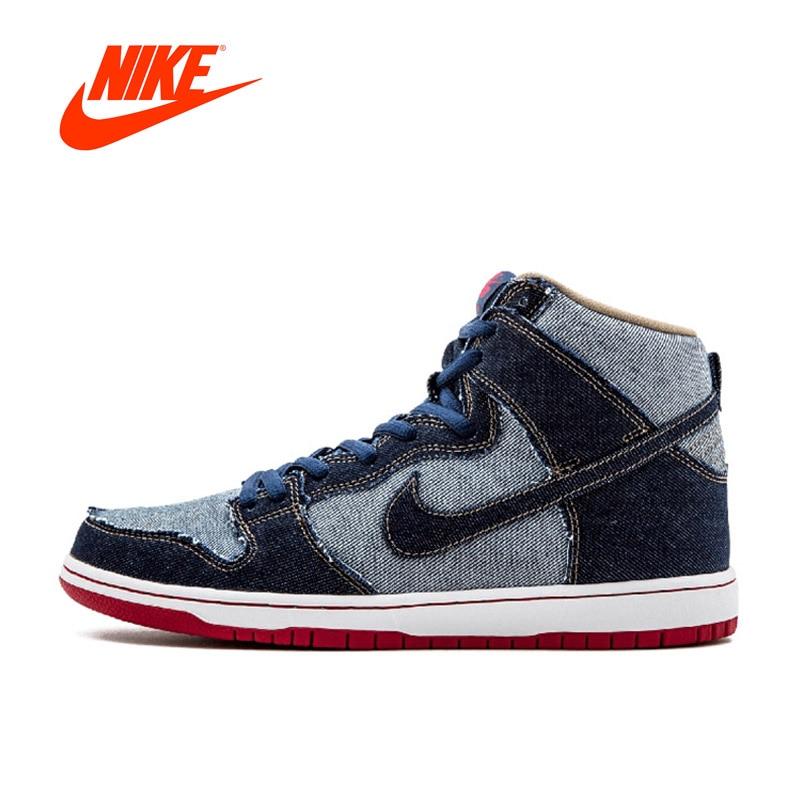 Original New Arrival Authentic Nike SB DUNK HIGH TRD QS Men's Hard-Wearing Skateboarding Shoes Sports Sneakers кеды кроссовки высокие nike sb zoom dunk high pro black
