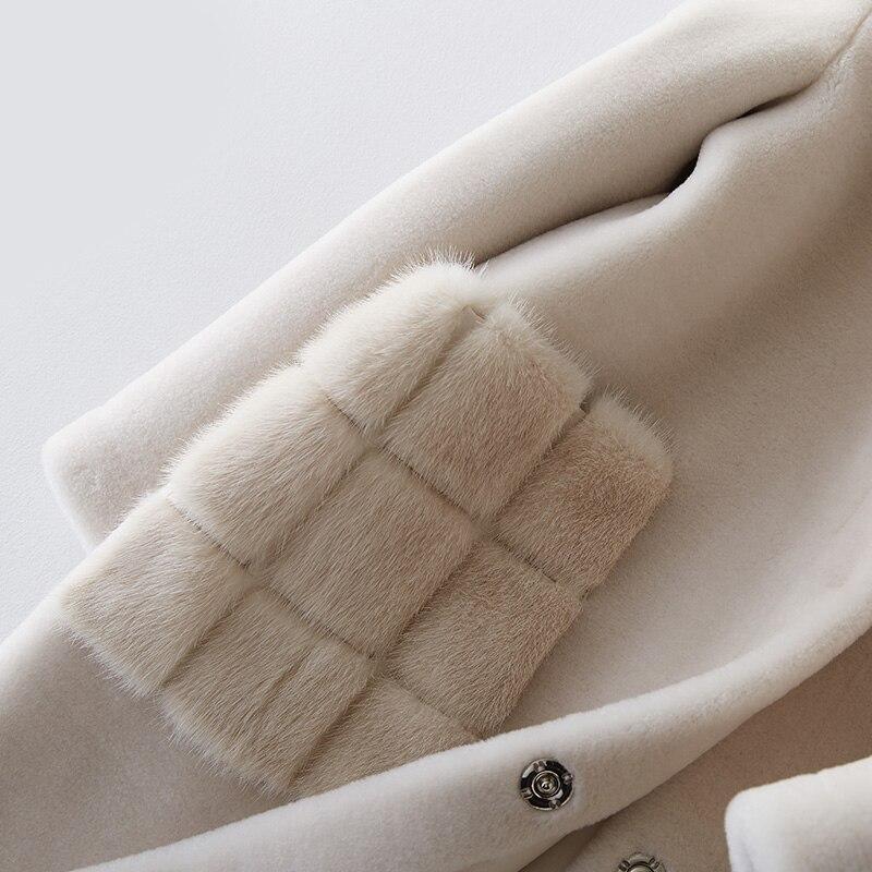 Doublure Pu Fourrure Hiver As Show Long Poche Coatlambswool Coréenne Veste Blanc Vison 2018 Tops Manteau Femmes De Élégant Réel BFTvnWI