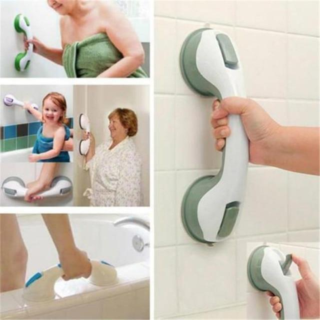 Grip Suction Cup Handrail Bath Tub Baby Old People Bathroom Shower Grab Bar  Safety Handle Sucker