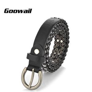 Image 2 - Goowail 2019 באיכות גבוהה מסמרת בציר יוקרה חגורות לנשים פאנק רוק בעבודת יד יהלומי היפ הופ מותניים חגורה לנשים ג ינס