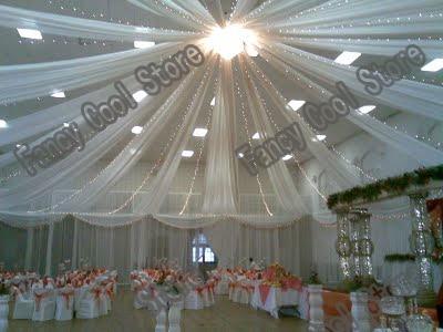 045 m 12 m livraison gratuite 12 pcslot plafond drap pour le mariage - Drap Mariage Plafond