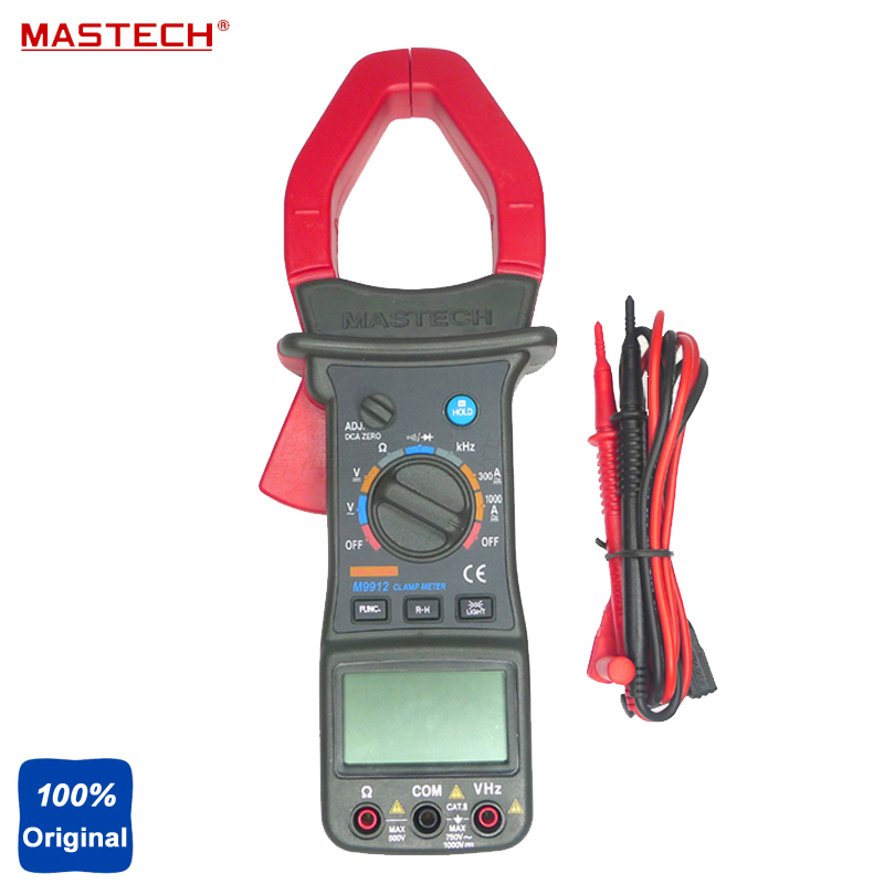 MASTECH M9912 3200 Counts Autoranging AC DC Clamp Meter Voltage Current Resistance Frequency Tester nc dc dc dc adjustable voltage regulator module integrated voltage meter 8a voltage stabilized power supply