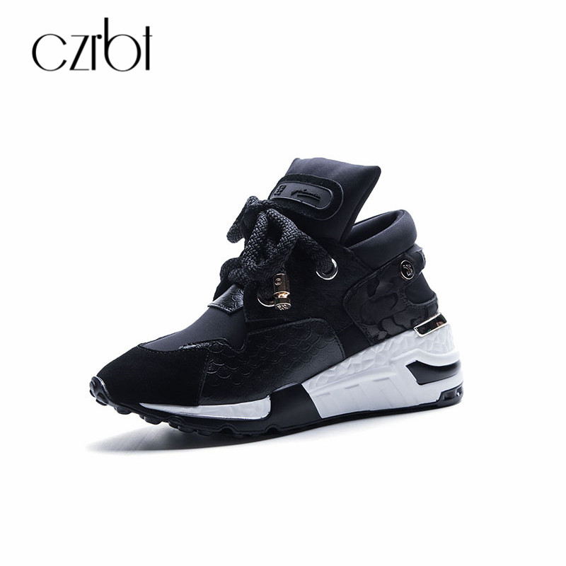 CZRBT Big Size 35-42 Women Sneaker Shoes Breathable Cow Suede Women Platform Shoes 2018 Spring Women Lace Up Flats Casual Shoes pinsen fashion women shoes summer breathable lace up casual shoes big size 35 42 light comfort light weight air mesh women flats