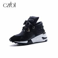 CZRBT Big Size 35 42 Women Sneaker Shoes Breathable Cow Suede Women Platform Shoes 2018 Spring Women Lace Up Flats Casual Shoes