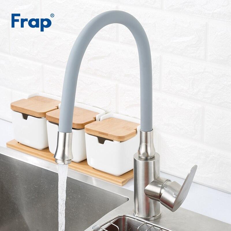 Robinets de cuisine FRAP robinet mélangeur de cuisine 360 degrés rotation robinet buse économie d'eau robinet robinet pour robinets d'évier de cuisine torneira
