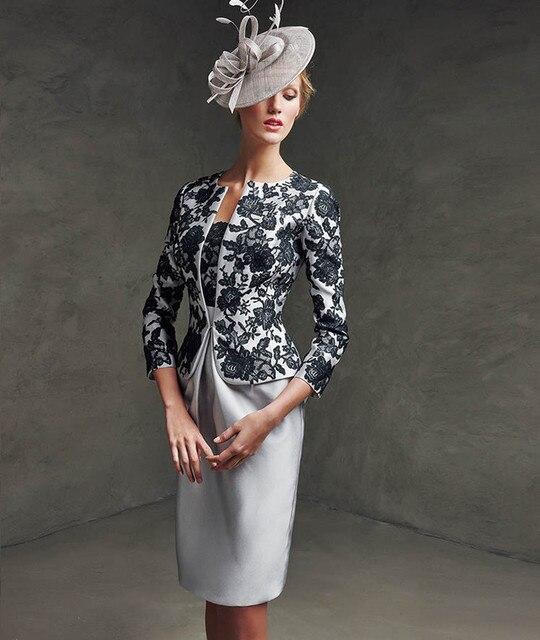 2017 elegante Scoop Lace Knielangen Plus Size Mutter der Braut ...