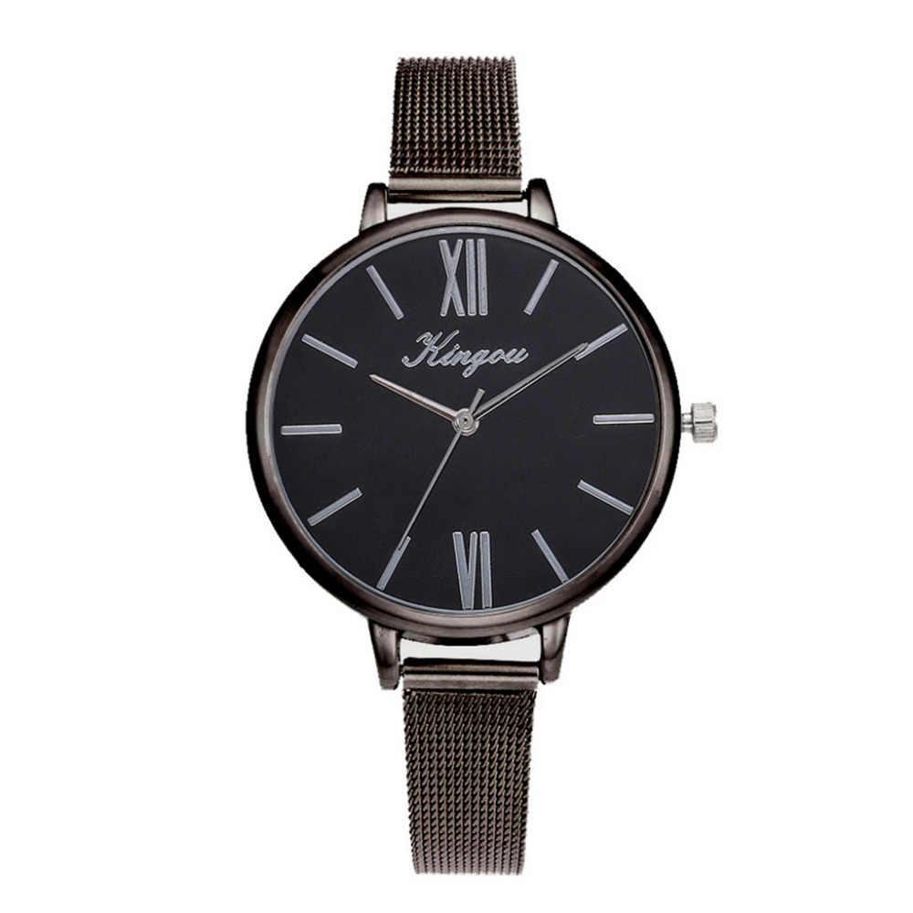 Montres femmes mode nouvellement luxe maille en acier inoxydable ceinture décontracté dames montre-bracelet robe de haute qualité Relogio Feminino/AA5