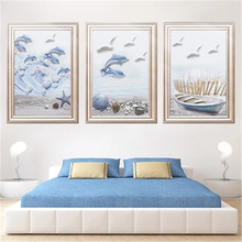 DiamondEmbroidery,China,landscape,scenery,Sea Dolphin, 5D Full Diamond Painting, Cross Stitch, Flower Mosaic, Decoration