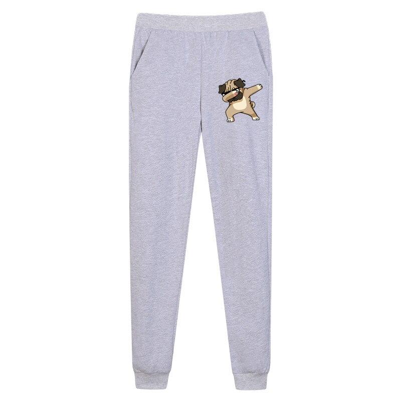 Boys funny pug Dabbing long pants girl thin cotton trousers Kids cartoon spring sweatpants boy pant 3