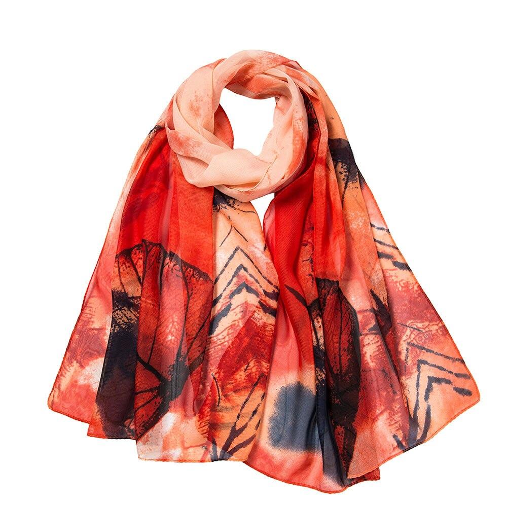 Fashion Women Leaves Printing Long Soft   Wrap     Scarf   Bohemian style Ladies Shawl   Scarves   Fantastic   Scarf   dropshipping 2018