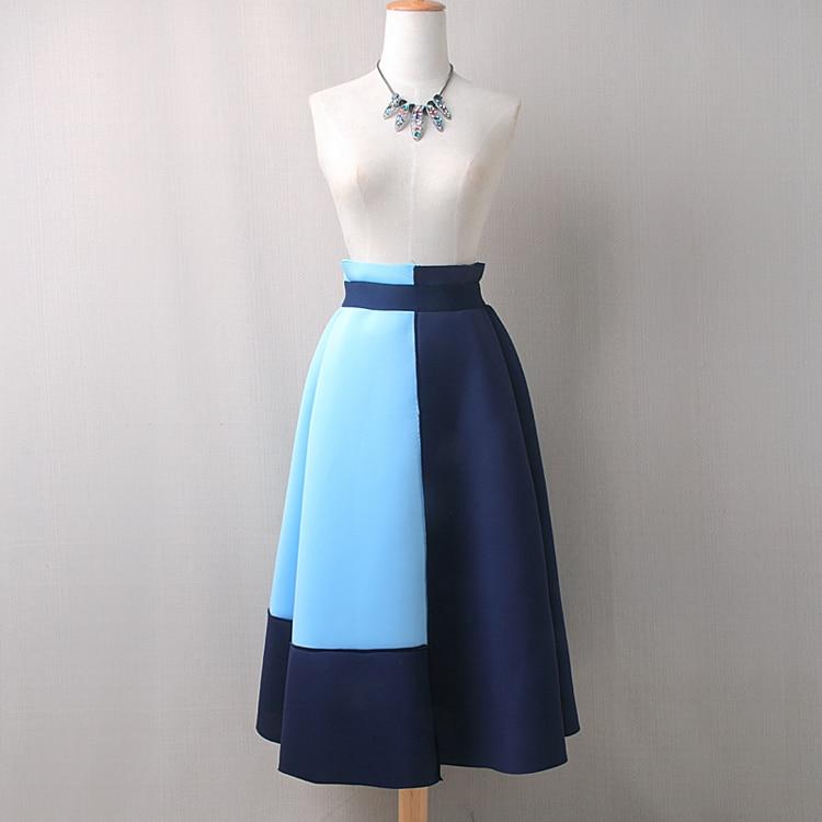 Mode patchwork espace coton longue jupe femmes moyen-long 2019 nouveauté 2 couleurs M, L