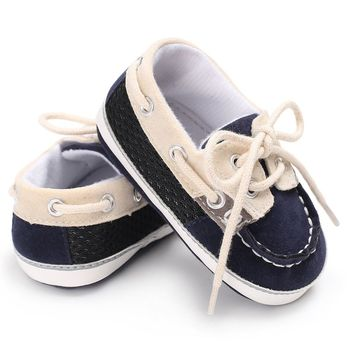 2019 Spring Baby boy Shoes First Walker Lace-up T-tied solid color casual Toddler Shoes Non-slip Soft Bottom Warm Shoes