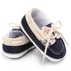 2019 primavera do bebê menino meninas sapatos casuais primeiro walker rendas t-amarrado cor sólida da criança sapatos não-deslizamento macio inferior sapatos quentes