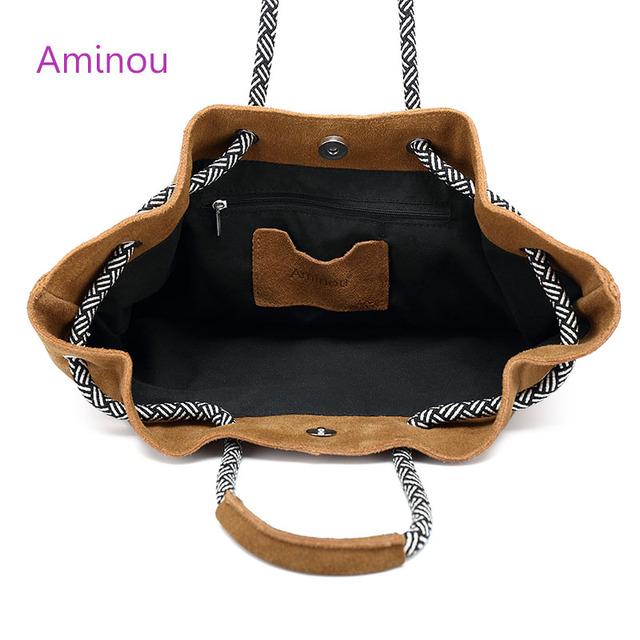 Women Genuine Leather Bag Casual Real Leather Tote Bags Vintage Soft Cowhide Shoulder Handbags Solid Tassels Bag Bolsa Feminina