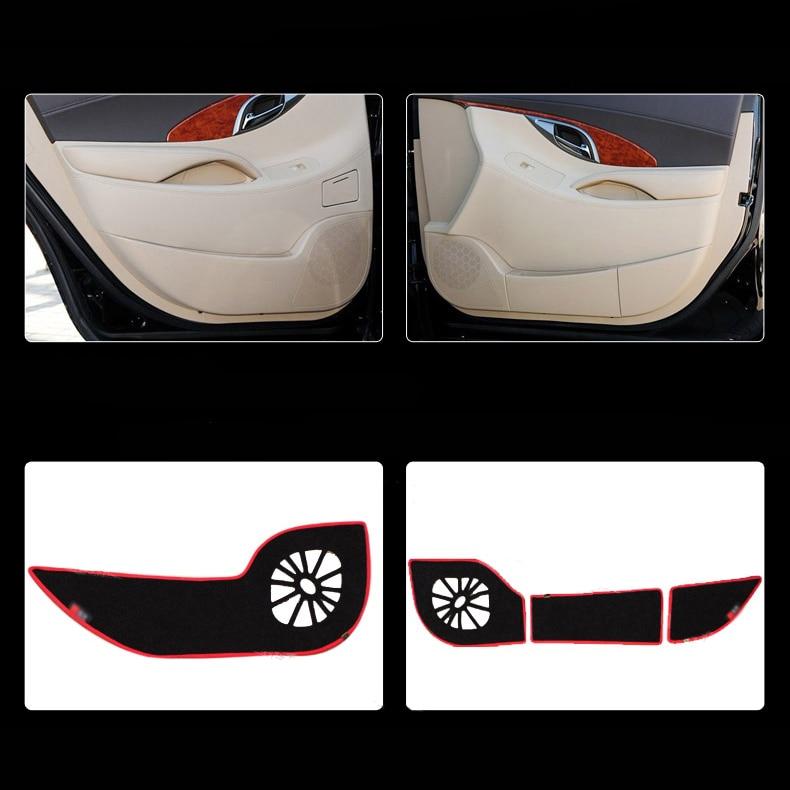 Ipoboo Savanini 4pcs Fabric Door Protection Mats Anti-kick Decorative Pads For Buick Lacrosse 2009-2012 ipoboo 4pcs fabric door protection mats anti kick decorative pads for hyundai elantra 2012 2015