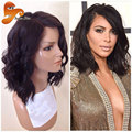 Cheap Short Full Lace Human Hair Wigs For Black Women Wet Wavy Lace Front Human Hair Wigs Virgin Brazilian Lace Frontal Bob Wig