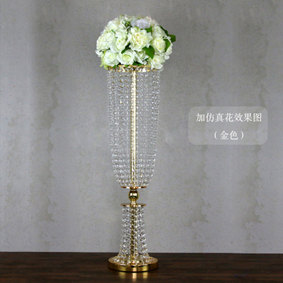 Crystal Table Centerpiece Flower Stand Wedding Props 10pcs/lot