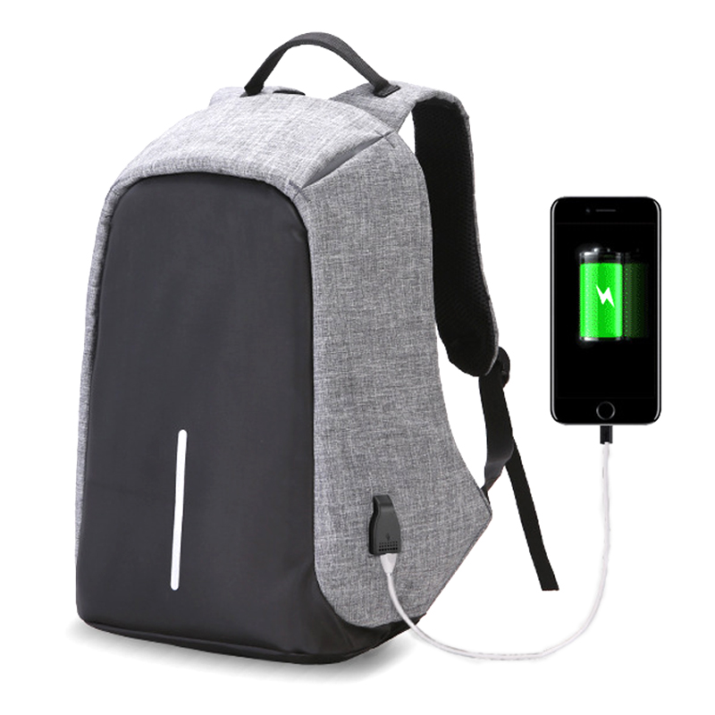 Men Backpack Anti theft multifunctional bobby Casual Laptop Backpack With USB Charge Waterproof Travel Bag Computer Bag Bagpack