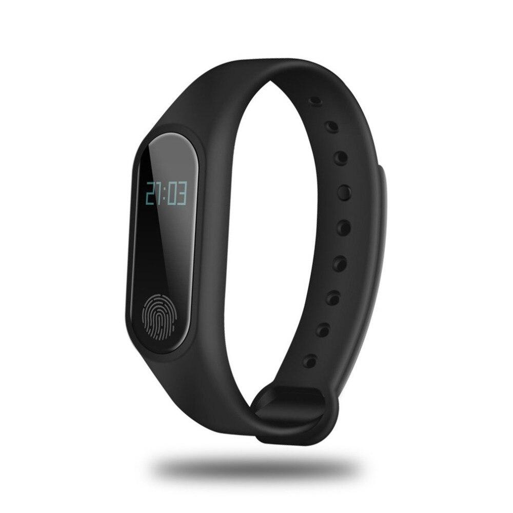 Barato reloj inteligente IP67 M2 reloj de Fitness OLED reloj inteligente de pantalla táctil BT 4,0 pulsera de Fitness Tracker Monitor de ritmo cardíaco