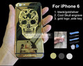 """High Quality For Iphone 6 24K Gold Skull Housing Head Battery Housing Back Cover with LOGO& Buttons&Sim Tray For Iphone 6 4.7 """""""