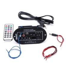 New 30W Car Bluetooth Subwoofer Hi-Fi Bass Amplifier Board Audio TF USB 220V/12V/24V mayitr 1pc 220v pro car bluetooth amplifier hifi bass power amp stereo digital amplifier usb tf remote for car accessories