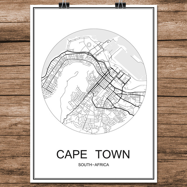 Cape town south africa world city street map print poster abstract cape town south africa world city street map print poster abstract coated paper cafe living room gumiabroncs Choice Image