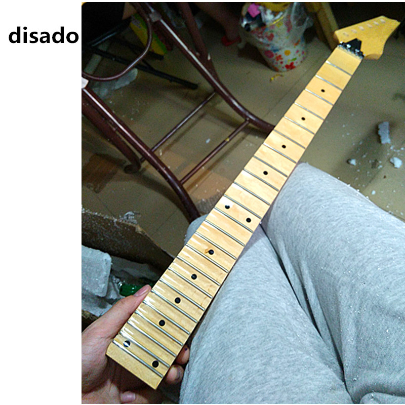 disado 21 22 24 Frets glossy paint maple Electric Guitar Neck maple scallop fingerboard inlay dots Guita accessories parts disado 21 22 frets maple electric guitar neck rosewood scallop fretboard inlay dots glossy paint guitar parts accessories