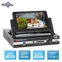 CCTV 4 Channel 8CH 1080N Digital Video Recorder With 7 LCD Screen Hybrid DVR HVR NVR