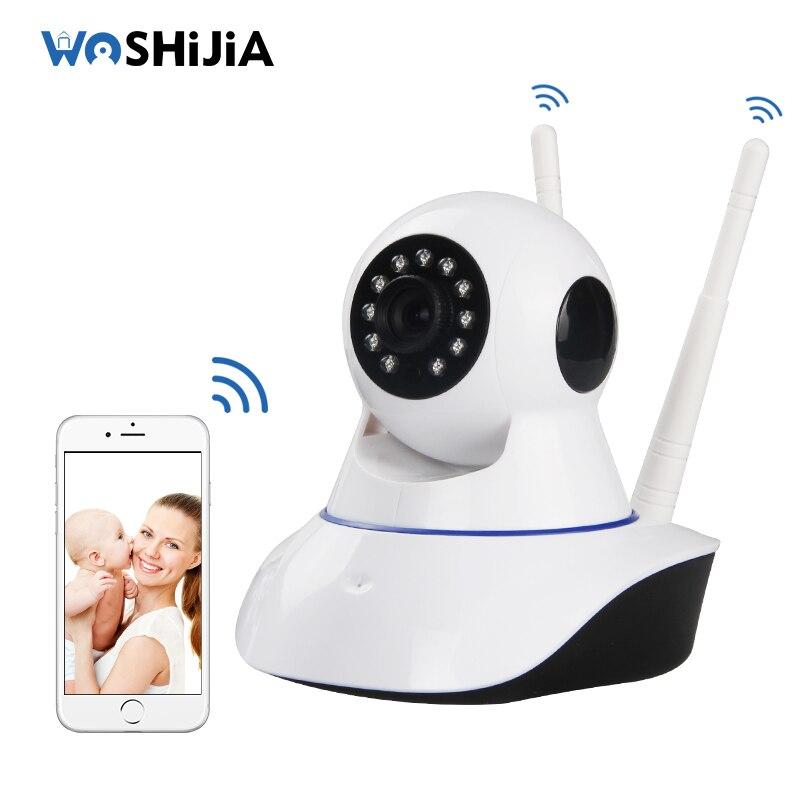 ФОТО Woshijia Baby Monitor Wireless Camera Smart Home Babyfoon 720P Linkage Alarm Baby Camera Network Remote Dual Antenna Monitors