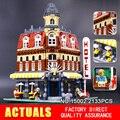 Lepin 15008 15007 15002 Calle de La Ciudad Creador Verdulería Kits de Edificio Modelo Bloques Ladrillos Compatibles 10185 juguetes de Niño