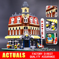 Lepin 15008 15007 15002City Street Creator Green Grocer Model Building Kits  Blocks Bricks Compatible 10185 Boy toys
