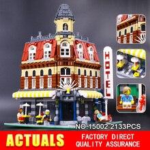 Lepin 15008 15007 15002City Street Creator Green Grocer Model Building Kits Blocks Bricks Compatible 10185 Boy