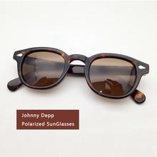 Johnny Depp Sunglasses Men Woman Brand Designer Acetate glasses Frame Polarized Sun glasses Driver Shade Top quality Q080-2 цена и фото