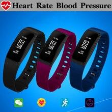 Женщины физиологические Приборы для измерения артериального давления сердечного ритма Мониторы Смарт Группа Браслет Водонепроницаемый Смарт-фитнес браслет smartband шагомер