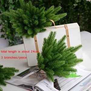 Image 2 - 1 חבילה מלאכותי פרח מזויף צמחי ענפי אורן עץ חג המולד מסיבת חג המולד קישוטי חג המולד עץ קישוטי ילדים מתנה